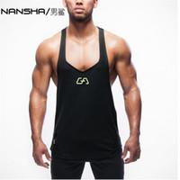 Toptan-Yeni yms Erkek Tankı Üstleri Stringer Vücut Geliştirme Ekipmanları Spor erkek GYMS Tankları Giysileri
