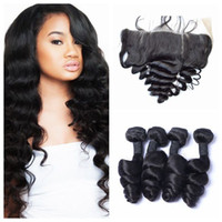 G- EASY Peruvian Loose Wave Human Hair Weave Bundles With Sil...