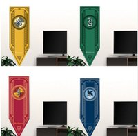 48x150 cm Harry Potter Grifondoro Tassorosso Corvonero Bandiera Hogwarts College Bandiera Home Decor poster da parete decorazione di Halloween