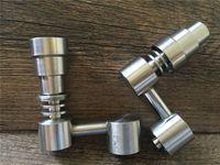 Masculino / Feminino 4 em 1 Gr2 Domeless Titanium Banger Nails Concentrado Funcional Acessórios para Bongos De Vidro dab rigs Alta Qualidade