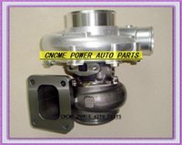 أفضل توربو مبرد بالماء والزيوت تبريد الشاحن التوربيني T76 T4 شفة التوربينات A / R.68 Comp: A / R 0.80 800HP-1000HP Turbo Charger V-Band