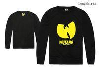 Männer T-Shirts WU TANG Langarm-Shirt Frühling Herbst Kleidung Casual Sport Tops Tees Wolle O-Neck-T-Shirt