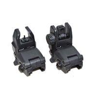 Tactical Polymer Picatinny / tessitore anteriore e posteriore insieme combinato vibrazione di backup AR15 AR15 M16 M4 M4 Flattop A1 A2 Messaggio Back Up