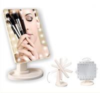 Настольное складное зеркало для макияжа со светодиодной подсветкой и сенсорным датчиком Travel Makeup Mirror Подсветка LED Mirror Portable