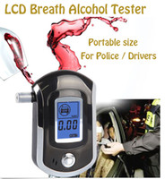 새로운 전문 경찰 디지털 흡입 알코올 테스터 음주 측정기 AT6000 무료 배송 Dropshipping 고품질 뜨거운 판매
