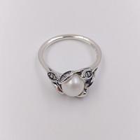 Authentische 925 Sterling Silber Ringe Leuchtende Blätter Ring passt europäischen Pandora-Stil Schmuck 190967P