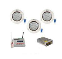 3PCS 36W RGB DMX512 LED 수영장 빛 수 중 IP68 표면 탑재 조명 + AT3010D DMX 컨트롤러 전원 공급 장치 CE ROSH