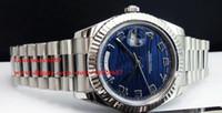 Yüksek Kaliteli Erkek Lüks Yüksek Kalite Saatı 41mm Daydate II Başkan Mavi Dalga Arama Otomatik Erkek İzle Saatler