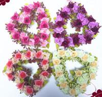 3 قطع رومانسية القلب روز البخار إكليل أزهار الشريط ل زفاف المنزل الديكور مكتب الزفاف
