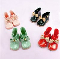 Fashion Baby Rain boot bows Kids Melissa jelly shoes non- sli...