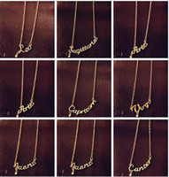 On Sale Fashion Jewelry 12 Zodiac Signs Letter Pendants Neck...