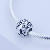 2016 NEW All Around The World Openwork Charm fit for Pandora DIY Original Bracelet 925 Sterling Silver Animal CZ Bead Jewelry 1pc/lot