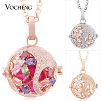 Angel Locket Filled Zircon 3 Colors Plated Stainless Steel C...