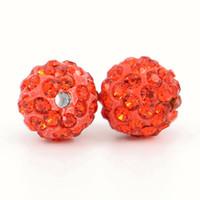 Ausgezeichnete Qualität Lose Perlen Shamballa Schmuck Hyazinthe Farbige Shamballa Perlen für Halskette, Größe 6mm, 8mm, 10mm, 12mm 100pcs / bag