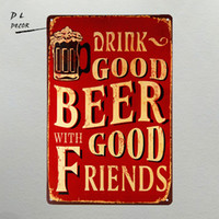 DL- Drink good beer with good Friend Wall sticker Medal home...