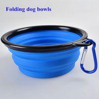 D13 Nuovo cane ciotole in silicone per animali domestici ciotole ciotole cane pieghevole ciotole di cane spedizione gratuita