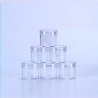 Cosmetic Empty Jar 20ML 20Gram Transparent Small Round Bottl...