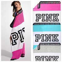PINK Blanket Flannel Blankets Soft Coral Beach Towel Blanket...
