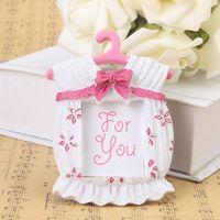 Fiesta de cumpleaños para niños Favores Pink Girl Ropa para bebés Marco de fotos Decoración de la boda baby shower favores y regalos 100pcs Al por mayor