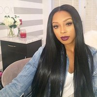 Lace Front Human Hair Wig Silky Straight 360 Lace Wig Malays...