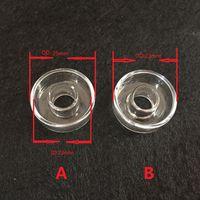 하이브리드 티타늄 교체 용 석영 접시 외경 25mm 또는 22mm 재고 보유 석유 굴착 용 100 % 실제 석영 못