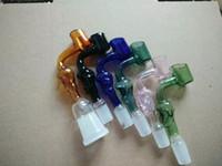 Imagen real Colorido Glass Skull Banger 14 mm 18 mm macho y hembra banger cazo de vidrio recipiente de vidrio para aceite bañador de vidrio