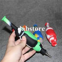 Nouvelle arrivée en silicone Nectar Collector Tubes colorés Mini silicone eau avec du titane clou de 10 mm Concentré Dab Straw Oil Rig