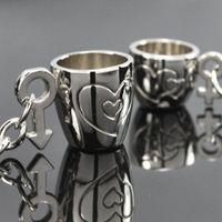 아연 합금 sliver love cup 결혼식 기념품 결혼 선물과 기념품 열쇠 고리 발렌타인 데이 선물 DHL 송료 무료