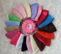 gratis frakt 10st size m, l baby kufi hattar stickning spädbarn baby bomull kepsar hög kvalitet flicka virka kufi hatt hår tillbehör gz9109