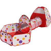 3In 1Kids Палатка Pipeline Ползучая Огромный Game Play House Baby играть Yard Ball Pool Крытый младенца Playpen Tienda корралито