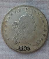 الولايات المتحدة رايات تمثال نصفي الدولار 1804 عملات نسخ هجر الفاظ قديم تبحث الولايات المتحدة عملات معدنية النحاس الحرف / بيع كامل شحن مجاني