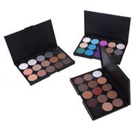 Палитра макияжа Eyeshadow 15 цветов мерцание матовый пигментный глаз тень обнаженных макияжа теней для век