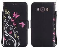 Samsung galaxy j5 prime için kapak çevirin lüks cüzdan kart renkli çiçek galaxy j5 j510 için 2016 j530 2017 case