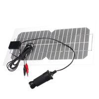 Freeshipping 5.5W 18V universelles halb-flexibles transparentes monokristallines Silikon-Sonnenkollektor-Solarzelle Sun Engergy Energie-Klipp + USB-Ladegerät