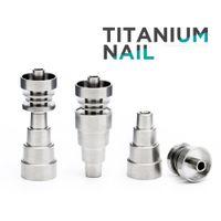 Outils à main Metal Banger Domeless Titanium Nail 10mm 14mm Mâle Joint 2 / 4/6 en 1 avec 6 types différents