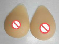 Ücretsiz kargo 2018 sıcak satış silikon meme formları üçgen transeksüel transseksüel yapay protez için gözyaşı şeklindeki 300-1400 g / çift