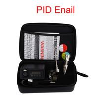 Kit Enail per la penna a base di erbe secca Digitale PID elettronico DAB Titanium Nail Dnail Dnail E-Nail Vaporizzatore di cera per ciotola per fumatori con custodia con cerniera