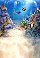 Baby-Fotografie-Hintergrundhintergrund LK 2173 Freeshipping 200CM * 150CM fundo Wassertier Plant3D