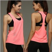 Hot Sexy Female Loose Sports Shirts Solid Fitness Vest Gym Women Yoga Clothes Running Top Breathable Lady Cycling Vest
