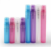 سعر المصنع 5 ملليلتر الملونة بلوري البلاستيك أنبوب الخالي إعادة الملء زجاجات العطور رذاذ للسفر والهدايا 500 قطعة / الوحدة بواسطة dhl شحن مجاني
