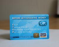 Carte à puce sans contact standard de carte à puce RFID de carte en plastique standard