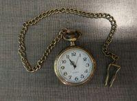 Venta al por mayor 50 unids / lote relojes de cuarzo llavero de bronce relojes de bolsillo PW151