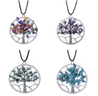 2018 New Fashion Tree of Life Pendant Natural Broken Stone C...