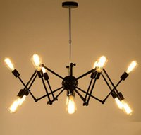 Hot Spider Chandelier Vintage Wrought iron Pendant lamp Loft...