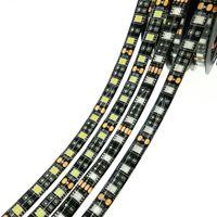저렴 한 블랙 PCB LED 스트립 조명 5050 SMD 따뜻한 화이트 레드 그린 블루 RGB 유연한 5 M 롤 300 Leds 리본 방수 / 비 방수