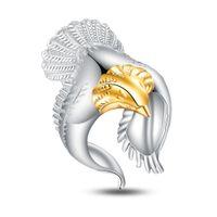 Bague aigle en argent Sterling 925 bague en or 18k mode femmes hommes cadeau bijoux en argent bagues