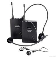 2016 высокое качество Takstar uhf-938 беспроводной гид система голосового устройства обучения наушники передатчик + приемник + микрофон + наушники бесплатная доставка