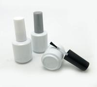 Gros- 300 x 15 ml vide bouteille de vernis à ongles en verre blanc avec bouchon en verre blanc 1/2 oz verre conteneur