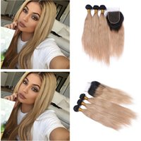 New Arrival Ombre Straight Hair With Top Closure Two Tone 1B...