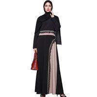 Ближний Восток горячие продажи женщин мусульманский халат Платье Дубай Абая Макси длинные платья 2017 Осень плюс размер этнической одежды